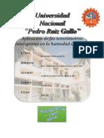 Noveno Informe de Agrometereología