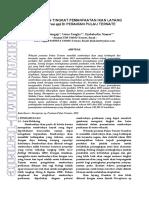 Agrikan Volume 9 Edisi 2-1-10_mujais b Sangaji_umar T_jabaluddin N_potensi Dan Tingkat Pemanfaatan Ikan Layang (Decapterus Sp) Di Perairan Pulau Ternate