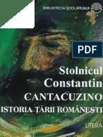 Cantacuzino C-tin - Istoria tarii romanesti (Aprecieri).pdf