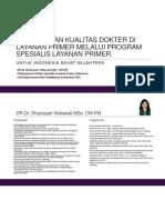 DLP Untuk Indonesia Sejahtera Untuk Fk Ugm
