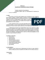 Práctica 5. Determinación de Cloruros en Agua Potable