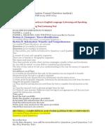 PT3 ENGLISH Examination Format