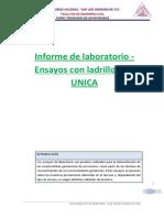 Informe de Laboratorio - Ensayos Con Ladrillos FIC UNICA