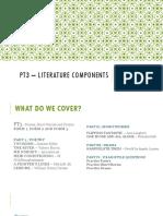 Pt3 – Literature Components
