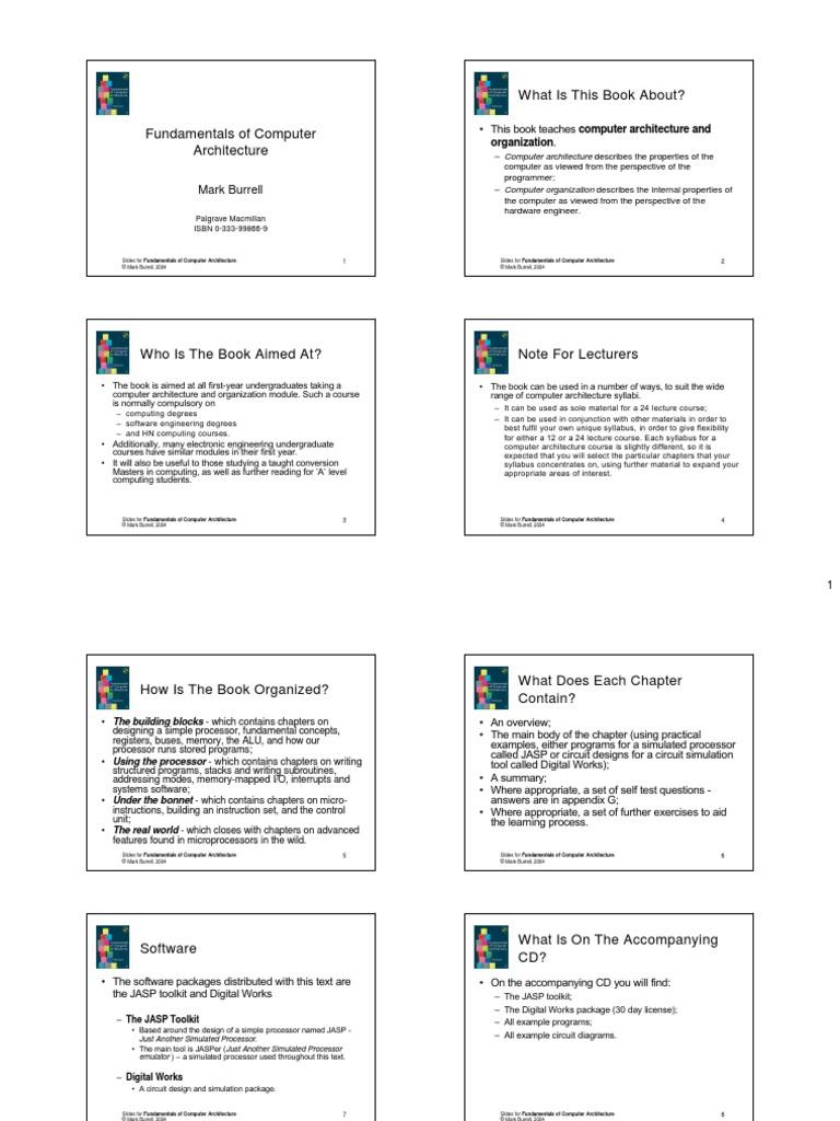 computer architecture test questions