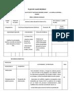 Plan de Clase Modelo