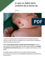 ¿Cómo saber que un bebé tiene alergia a la proteína de la leche de vaca? - Homeopatia Quantika