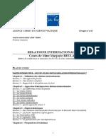 Plan Du Cours de Relations Internationales [m Beulay]