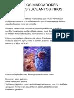 ¿QUÉ SON LOS MARCADORES TUMORALES ? ¿CUANTOS TIPOS HAY? - Medicina mnemotecnias.pdf