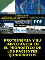 hipoproteinemia en pacientes hospitalizados