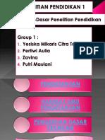 Group 1 (Filosofi Dasar-dasar Penelitian Pendidikan)