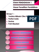 Group 1 (Filosofi Dasar-dasar Penelitian Pendidikan 2)