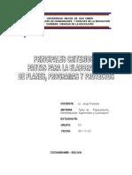 10 Principales Criterios o Pautas Para La Elaboracion de Planes Programas y Proyectos