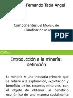 Componentes Del Modelo de Planificación Mina