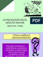 Presentación La Psicologia en El Adulto Mayor