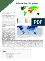Anexo Países Por Índice de Desarrollo Humano