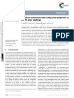Effects of Humidity on the Sliding Wear Properties