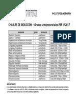 Calendario de Charlas FING - PAR III 2017