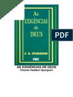 As Exigências de Deus - Charles Haddon Spurgeon.