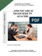 Comunicare Si Negociere in Afaceri - Curs i.d - 2016