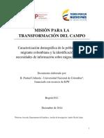 Migración Rural - Misión transformación campo
