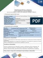 Guia de actividades y Rubrica Evaluación. Unidad 1 Paso 3 - Trabajo colaborativo