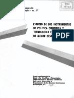2. Sagasti y Araoz Estudio de Los Instrumentos de Politica Cientifica