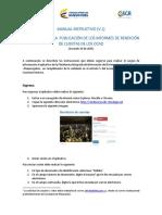 Manual Instructivo Aplicativo Rendición de Cuentas V1