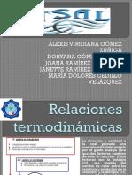 relaciones termodinamicas
