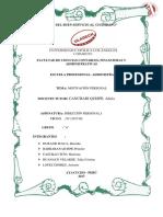 Informe Del Proceso de La Motivación Laboral