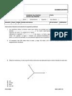 Examen Cálculo - Vectorial