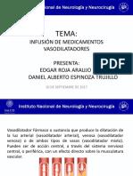 Infusión de Medicamentos Vasodilatadores