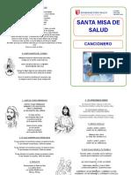 Cancionero Misa de Salud Viernes 9 Junio 2017