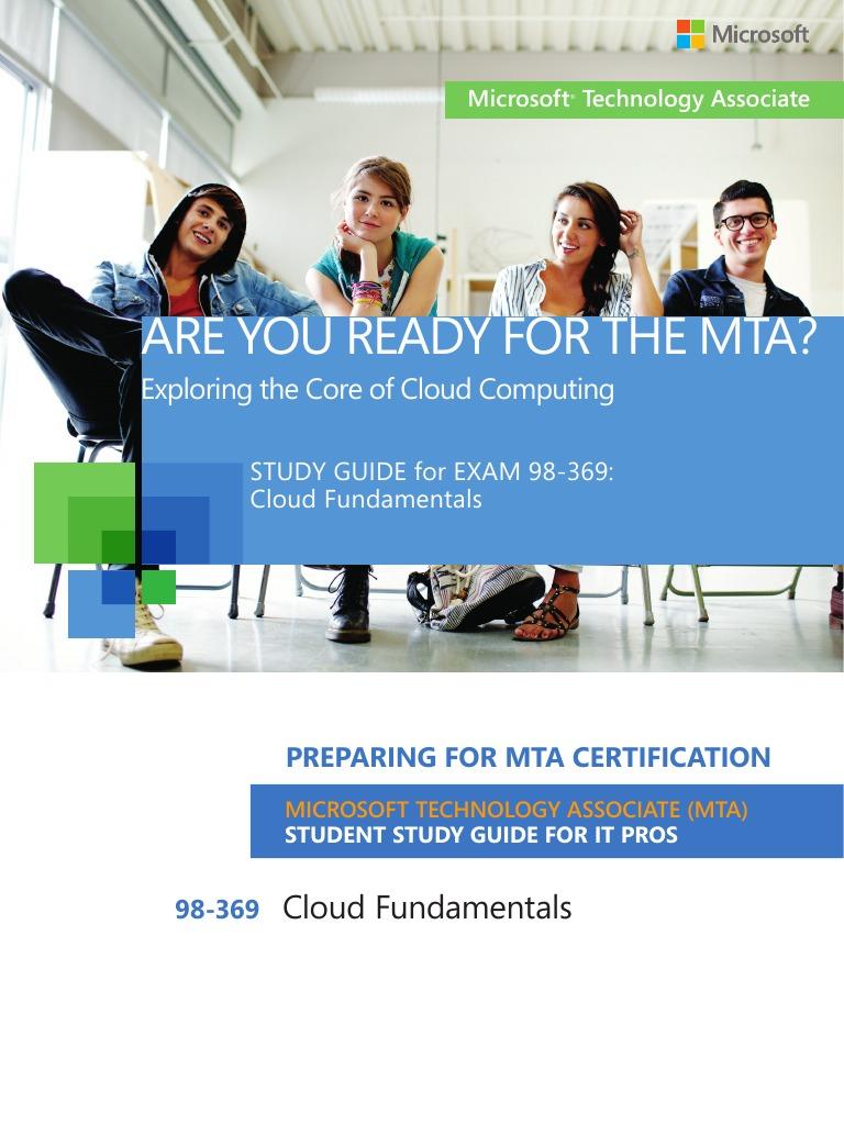 mta 98 369 enu study guide pdf office 365 cloud computing rh es scribd com Microsoft Technology Associate Logo Microsoft Technology Associate Banner