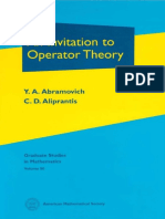 (Graduate Studies in Mathematics, V. 50) Y. a. Abramovich, Charalambos D. Aliprantis-An Invitation to Operator Theory-Amer Mathematical Society (2002)
