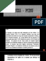 convenio Perú - suiza