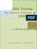Usability Testing for Library Websites a Hands on Guide