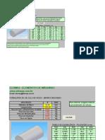 Cálculos de Pesos - Barras Redondas