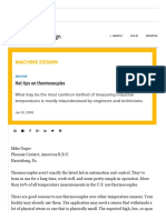 Machine Design Hot Tips on Thermocouples
