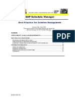 SAP Schedule Manager