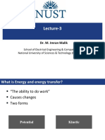 Lecture 3 (Energy, Projectile)