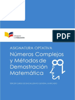 Asignatura Optativa Matematica NCDM Mate 3 BGU