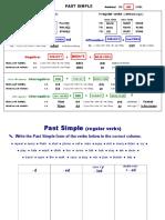 Past Simple Reg Irreg Verbs Grammar Exercises 1c2ba Eso Curso 2013 14