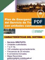 Plan de Emergencia Del STU Con Unidades Custodiadas
