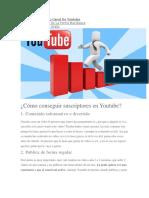 Tips Para Crecer Tu Canal de Youtube