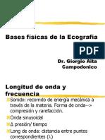 Bases Físicas Ecografía