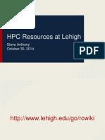 HPC Training-Slides Oct. 2014