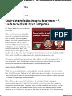 India's Hospital Ecosystem