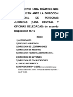 Instructivo de Tramites Personas Juridcas Bs As
