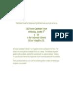 invitation to trustee candidate forum